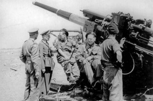 "3.7"" AA guns, possibly at a training camp in Dorset."