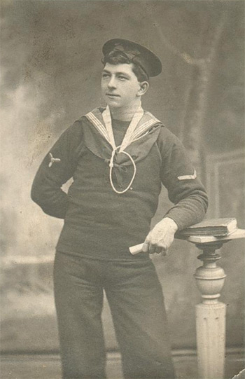 Alfred Jackson Brigham in 1910 as a Stoker 1st class on HMS Edgar