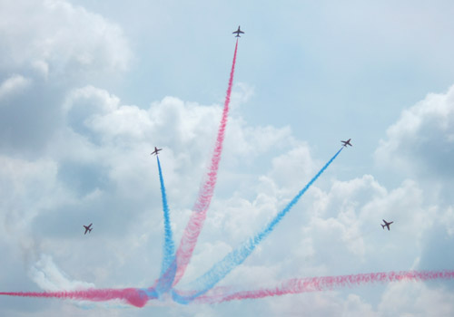 The Red Arrows at Dover Regatta 2006